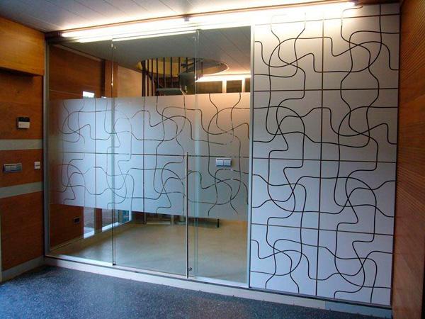 Lyne decoraci n for Vidrios decorados para puertas interiores